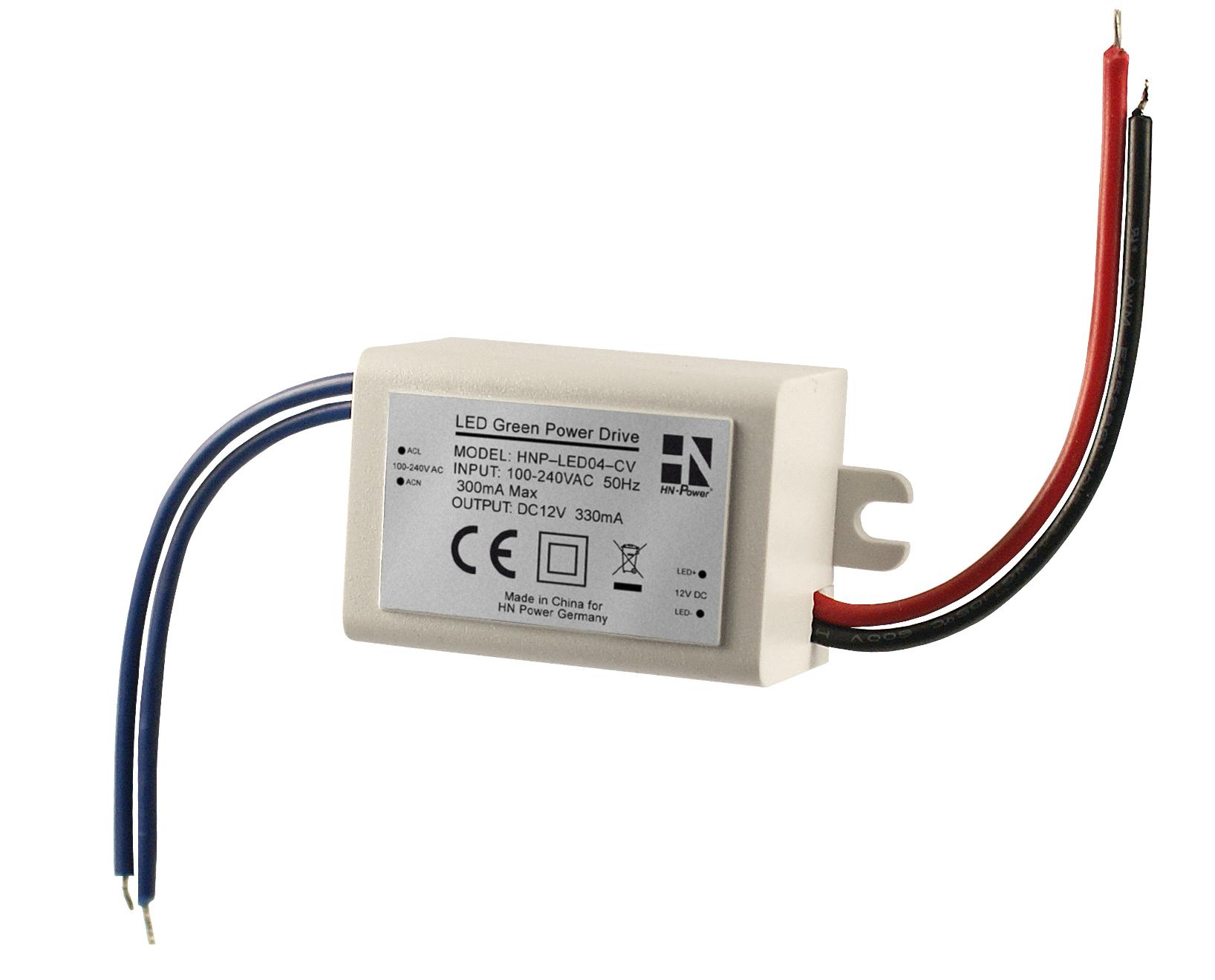 HNP-LED04-CV – LED driver 4 Watt CV – HN Electronic Components
